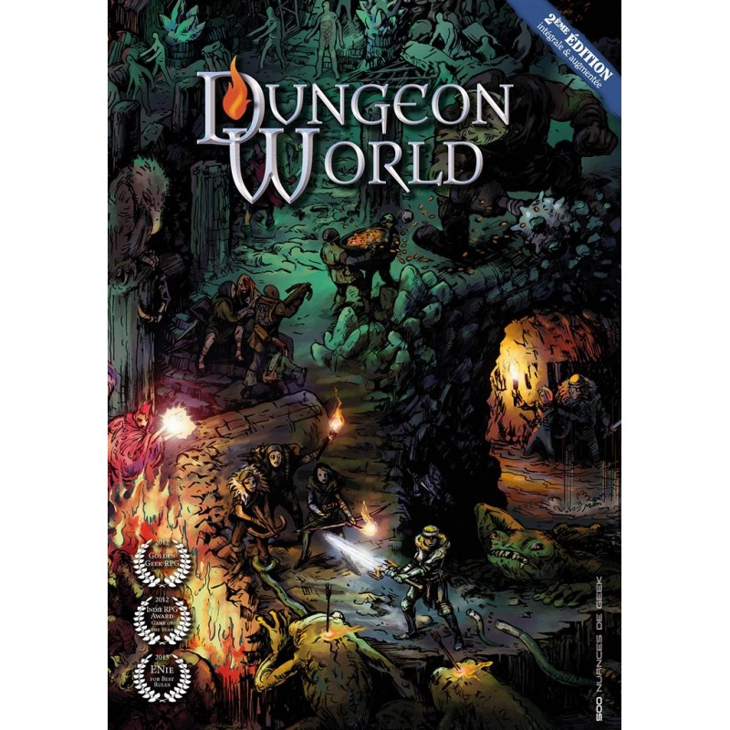 DUNGEON WORLD : SECONDE EDITION LIVRE - FACE