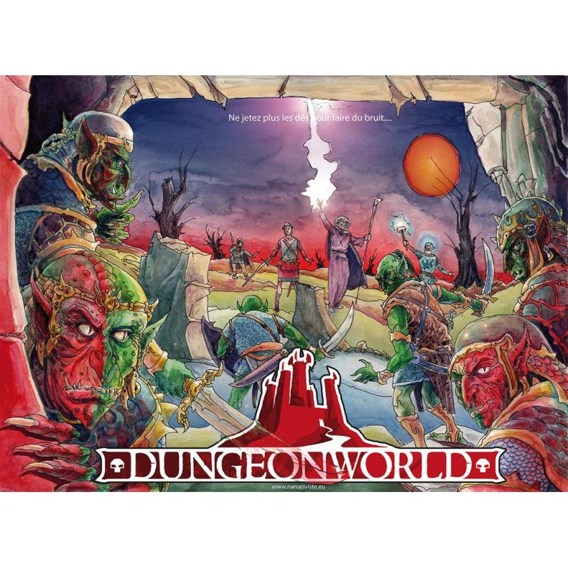 """DUNGEON WORLD : """"BOITE ROUGE"""" - FACE"""