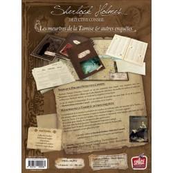 SHERLOCK HOLMES : LES MEURTRES DE LA TAMISE & AUTRES ENQUÊTES - Dos